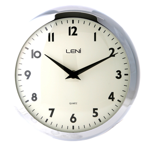Buy Leni Chrome Retro Wall Clock Online Purely Wall Clocks