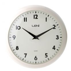 Simple ivory coloured clock with black features