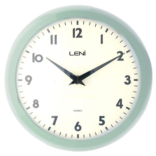 Mint coloured frame around simple clock