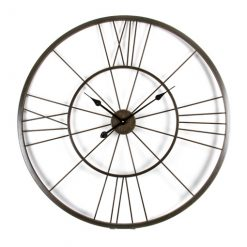 Large clock with thin iron work