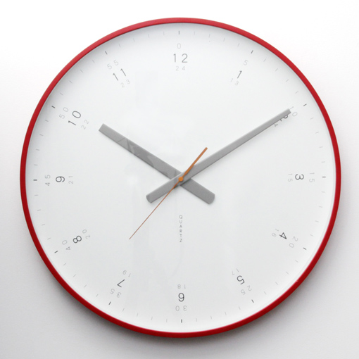 Buy Modern Red Wall Clock Online Purely Wall Clocks