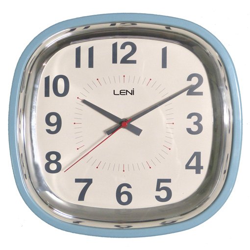 Buy Leni Square Blue Wall Clock Online Purely Wall Clocks