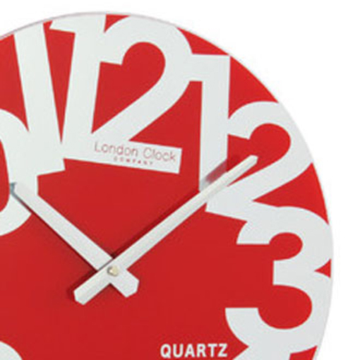 Funky Mirror Red Wall Clock : Australia : Purely Wall Clocks