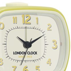 The Geo Yellow alarm clock has very cool numbering and hands