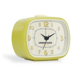 The Geo yellow alarm clock is petite but looks like an old TV
