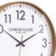 Large Boho Natural Wood Wall Clock Close Up