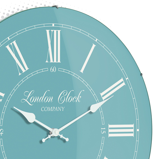 The Emma Teal Wall Clock : Australia : Purely Wall Clocks