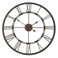 Roman numerals wall clock made from iron front view
