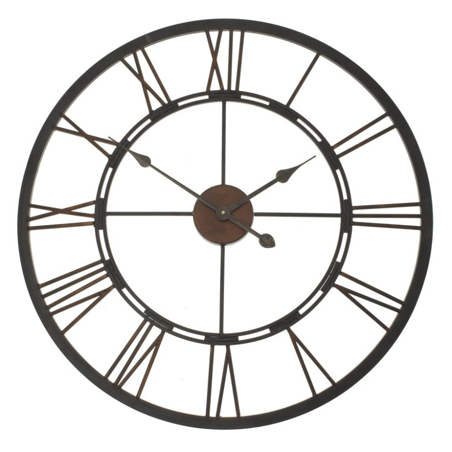 Buy iron roman wall clock online purely wall clocks iron roman wall clock front amipublicfo Image collections