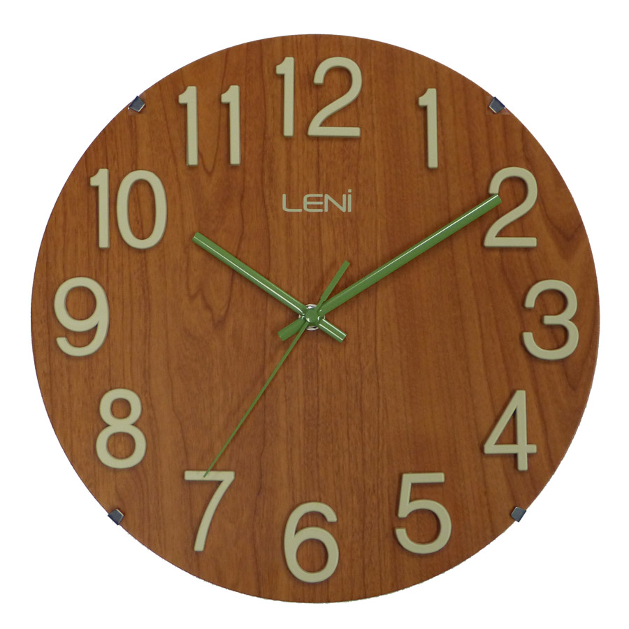 Buy Leni Woody Wall Clock Red Wood Online Purely Wall