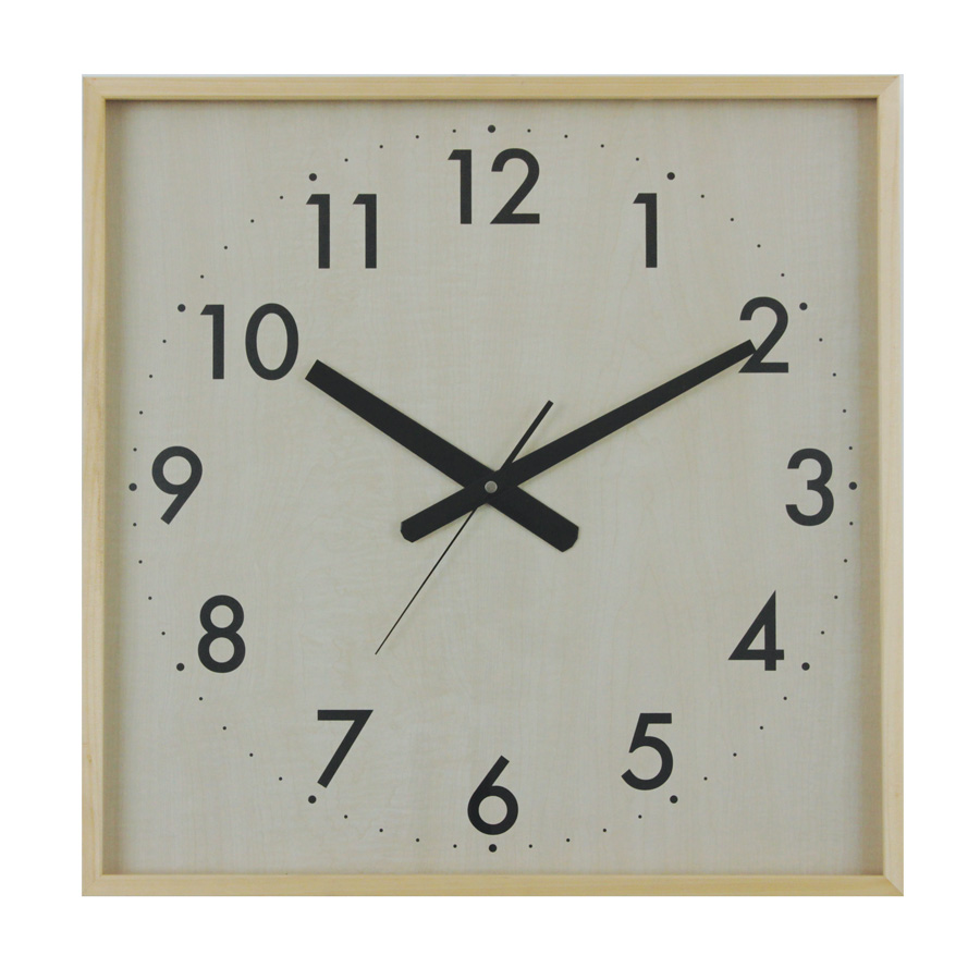 Buy maple super square clock online purely wall clocks maple super clock square front amipublicfo Choice Image