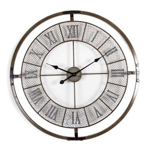 Buy roman numeral mesh wall clock online purely clocks - Large roman numeral wall clocks ...