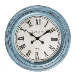 Fulton Large Wall Clock Blue