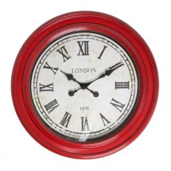 Fulton Large Wall Clock Red