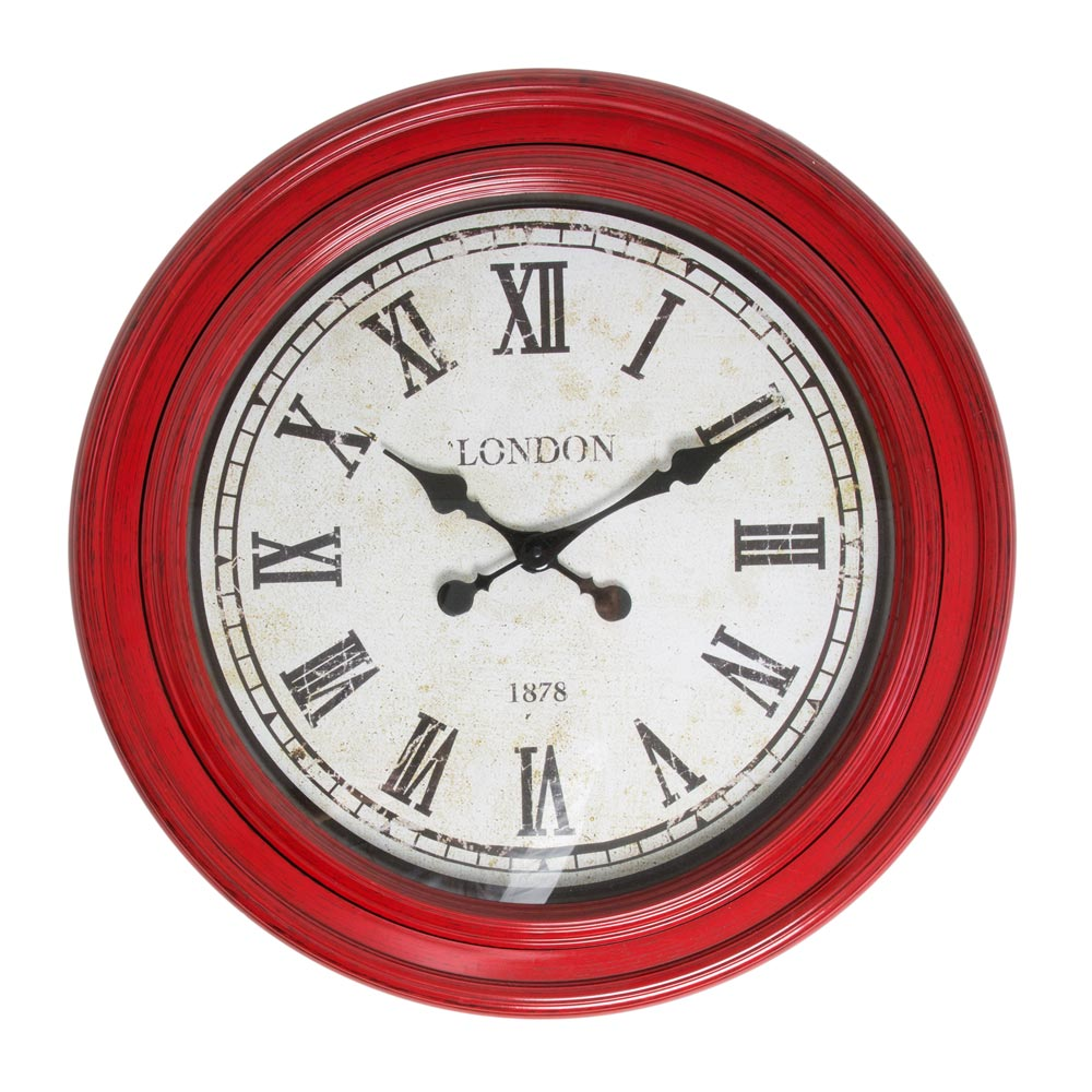 Buy Fulton Large Wall Clock Red Purely Wall Clocks