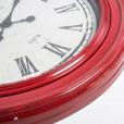 Fulton Large Wall Clock Red Close  2