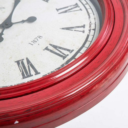 Fulton Large Wall Clock Red Close 2
