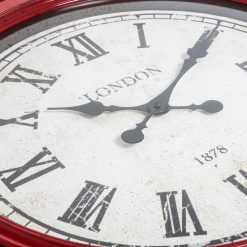 Fulton Large Wall Clock Red Close