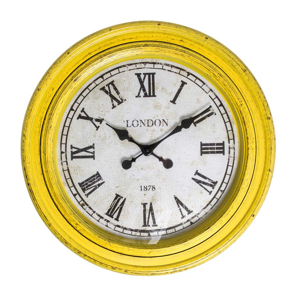 Fulton Large Wall Clock Yellow