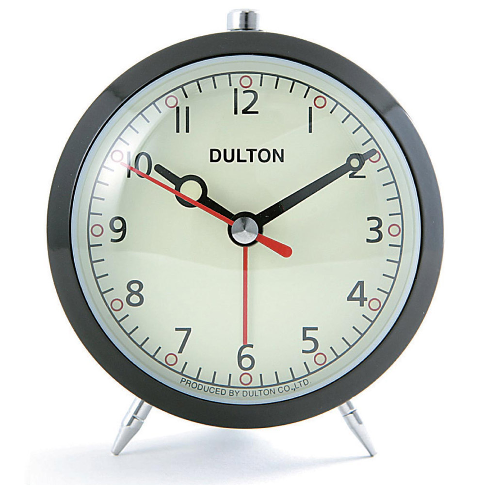 Buy Dulton Alarm Clock Black Online Purely Wall Clocks