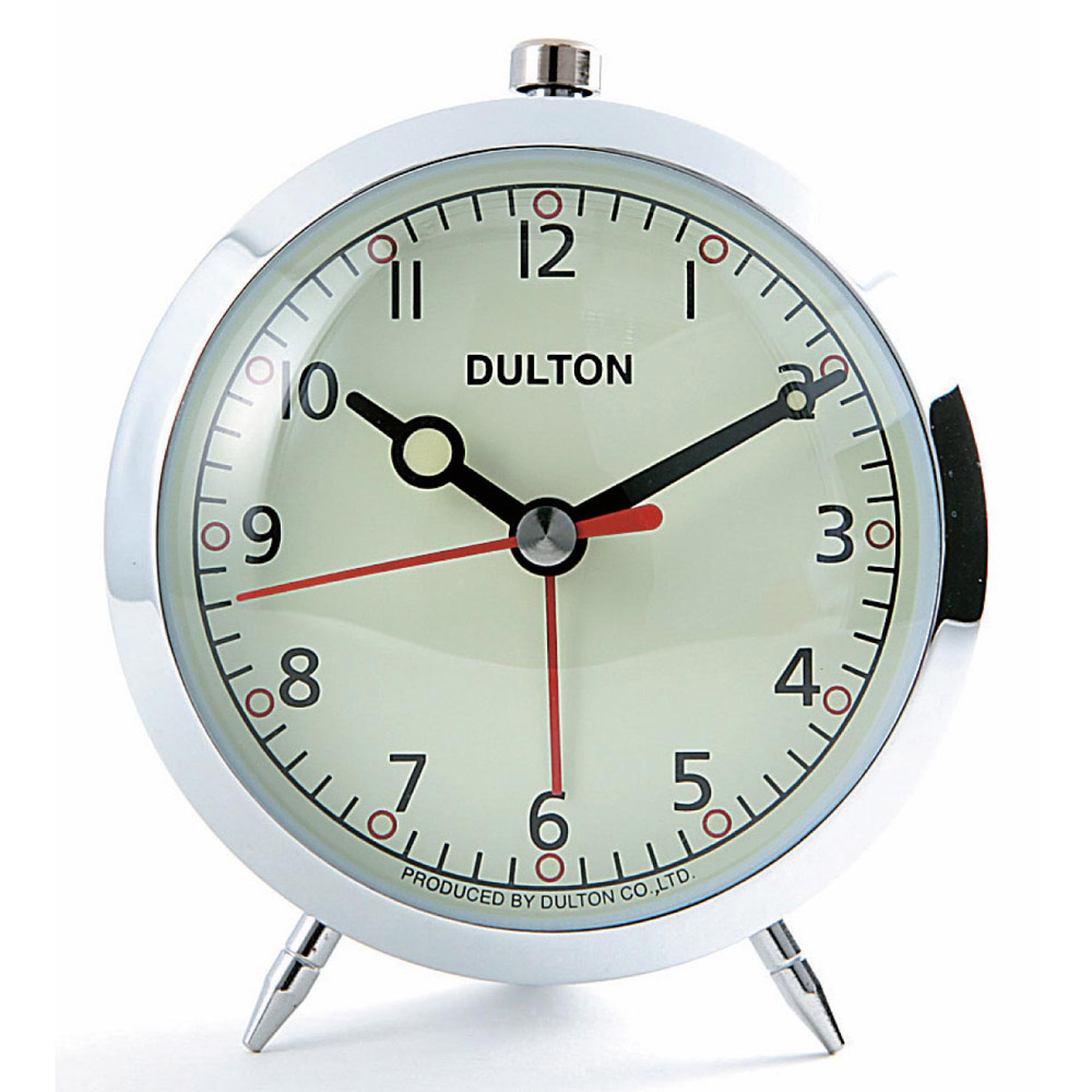 Buy Dulton Alarm Clock Chrome Online Purely Wall Clocks