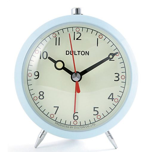 Buy dulton alarm clock light blue online purely wall clocks for Cool nightstand clocks