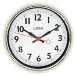 Leni Essential Wall Clock Ivory