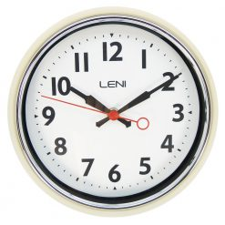 Ivory coloured Leni essential wall clock