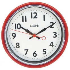 Bold red coloured Leni essential wall clock