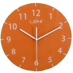 Stunning orange glass wall clock