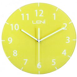 Super bright yellow fun wall clock
