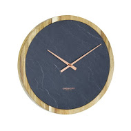 Carbon Round Wall Clock - Large