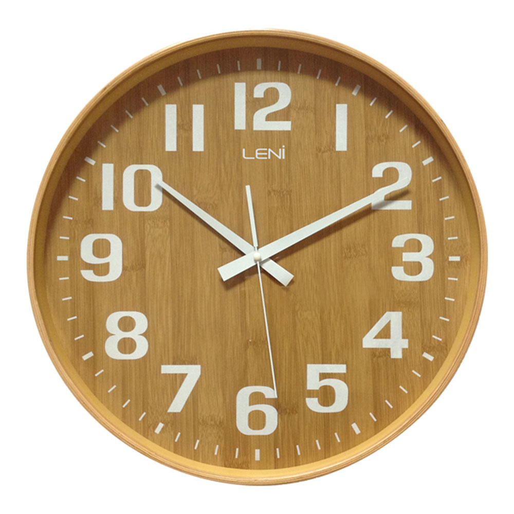 Buy Leni Bamboo Wooden Wall Clock Small Wallet Online