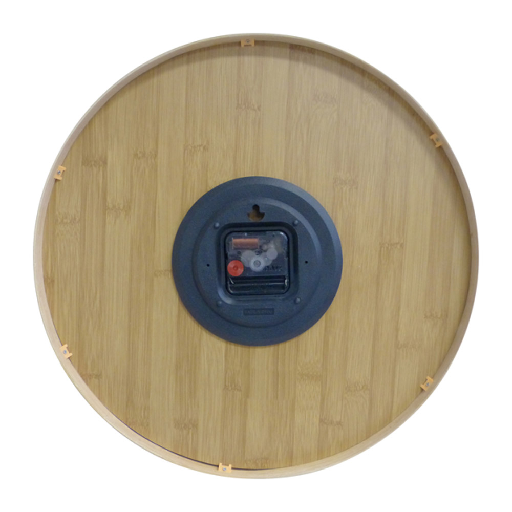 Buy Leni Bamboo Wooden Wall Clock - Large Wallet Online
