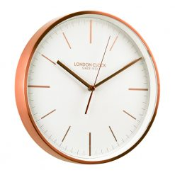 Image of Artemis Copper Wall Clock with White Trim