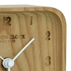 Close Up image of Blokk Wood Alarm Clock