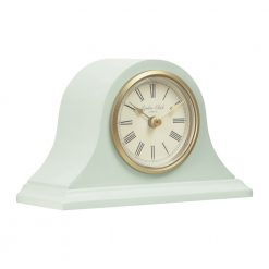 Image of Catherine Green Mantel Clock Small with Gold Trim