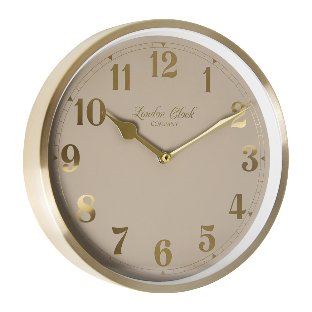Buy Florrie Gold Wall Clock Online Purely Wall Clocks