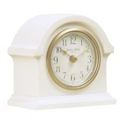 Image of Grace Cream Mantel Clock Small with Gold Trim
