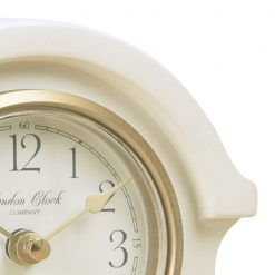 Close Up image of Grace Cream Mantel Clock with Gold Trim