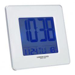 Image of Hyro White LED Alarm Clock with Digital Design