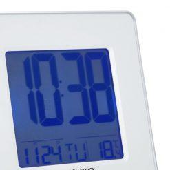 Close Up image of Hyro White LED Alarm Clock Digital Design