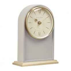 Image of Ivy Grey Mantel Clock Tall with Gold Trim
