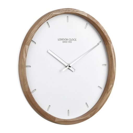 Image of Klokke Wood Case Wall Clock with wooden Edge