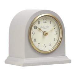 Image of Lily Grey Mantel Clock Small with Gold Trim