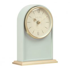 Image of Molly Green Mantel Clock Tall with Gold Trim