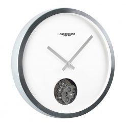 Image of Revolution Cog Wall Clock with Black and White Edge