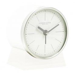 Image of Skarp White Resin Alarm Clock with Off-White Trim