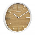 Skog White Case Glass Wall Clock - 50cm