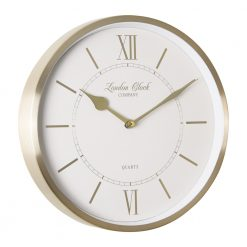 Image of Sophie Gold Wall Clock with White trim